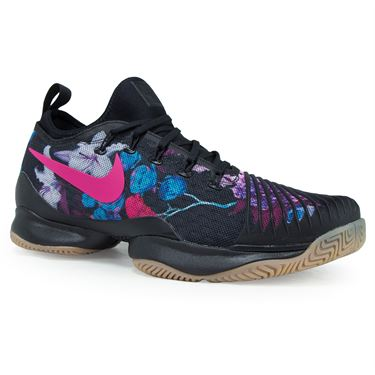 Nike Air Zoom Ultra React Mens Tennis Shoe - Black/Pearl Pink/Clear Jade