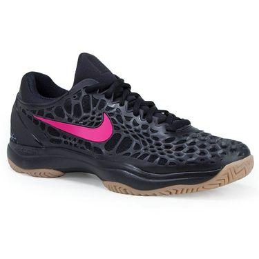 Nike Air Zoom Cage 3 HC Mens Tennis Shoe - Black/Gum Light/Brown/Clear Jade