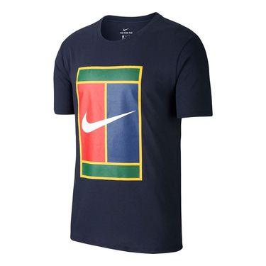 Nike Court Heritage Logo Tee - Obsidian/White