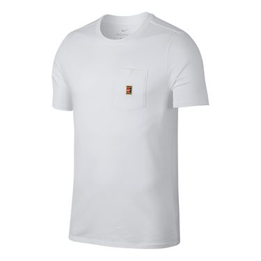 Nike Court Heritage Pocket Tee - White