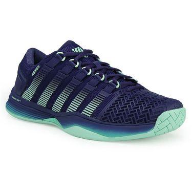 K Swiss Hypercourt 2.0 Womens Tennis Shoe - Blue Ribbon/Electric Green/Brook Green