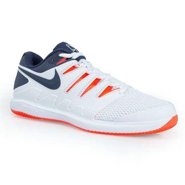 Nike Air Zoom Vapor X Mens Tennis Shoe - White/Blue/Orange