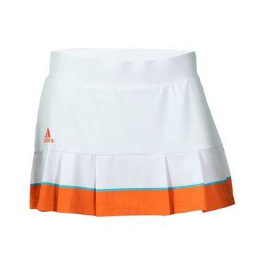 adidas all Premium Skirt LONG - White/Super Orange/EQT Green
