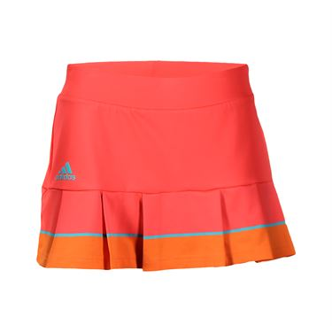 adidas all Premium Skirt LONG - Shock Red/EQT Green/Super Orange