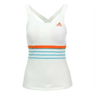 adidas all Premium Strappy Tank - White/Shock Red/Shock Green