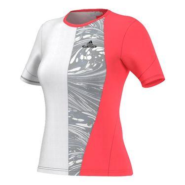 adidas Stella McCartney NY Barricade Tee - Flash Red/White/Grey