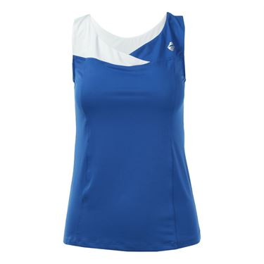 AdEdge Color Block V Neck Tank - Royal Blue/White
