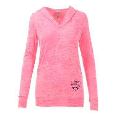 W&S Open Longsleeve Hooded Burnout - Neon Pink
