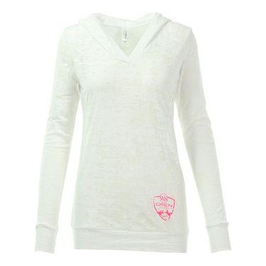 W&S Open Longsleeve Hooded Burnout - White