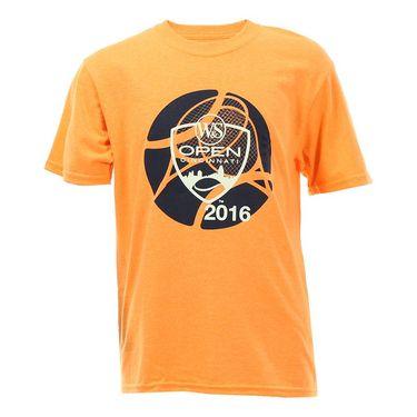 W&S 2016 Kids Circle Logo T-shirt - Neon Orange