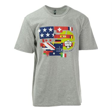 W&S 2016  Flag Design T-Shirt - Light Heather Grey