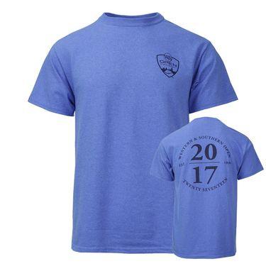 W&S 2017 Unisex Back Circle Logo T-Shirt - Heather Blue
