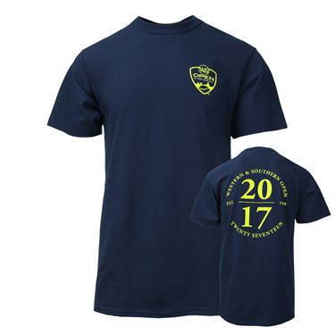 W&S 2017 Unisex Back Circle Logo T-Shirt - Navy Blue