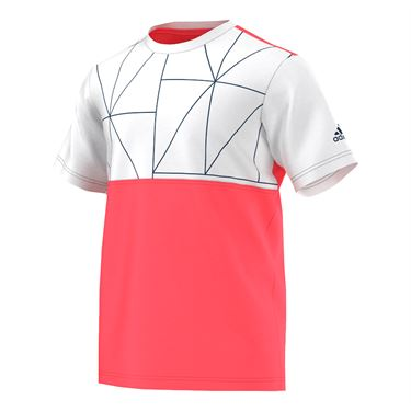 adidas Club Multifaceted Tee - Flare Red/White/Tech Steel