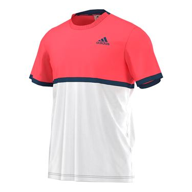 adidas Court Tee - White/Flare Red/Steel