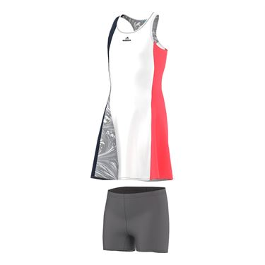 adidas Girls Stella McCartney NY Barricade Dress - White/Navy/Flash Red