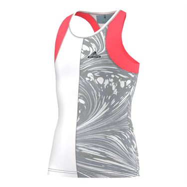 adidas Girls Stella McCartney NY Barricade Tank - Flash Red/White/Grey