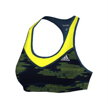 adidas Techfit Printed Bra - Steel/Green/Yellow/Black