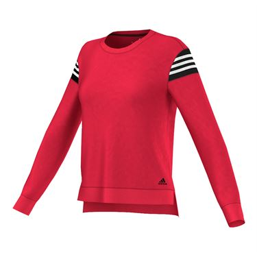 adidas Long Sleeve Crew Top - Ray Red