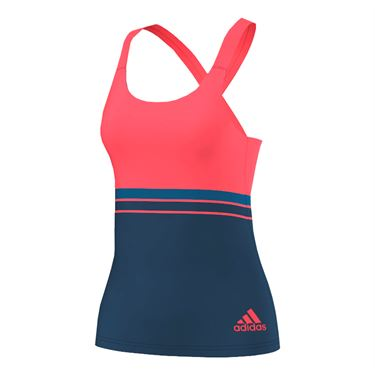 adidas all Premium Strappy Tank - Steel/Flash Red