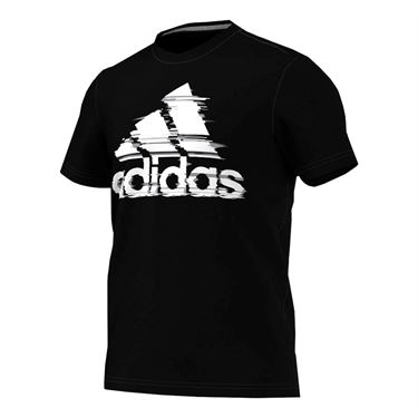 adidas Badge of Sport Glitch Tee - Black/White