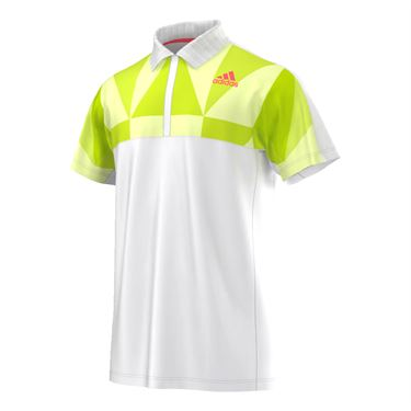 adidas Pro Polo - White/Flare Red