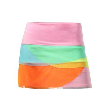 Lucky in Love Girls Core Rainbow Mesh Scallop Skirt - White/Multi