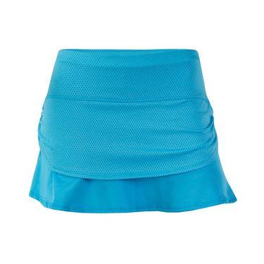 Lucky In Love Girls Ruched Tier Skirt - Ocean Blue