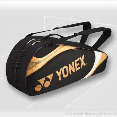 Yonex Tournament Basic Black/Gold 6 Pack Tennis Bag