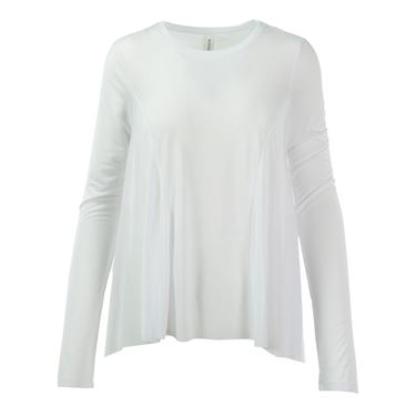 Colosseum Waterfall Long Sleeve Top - White
