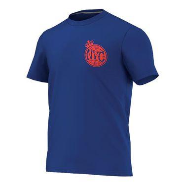 adidas NYC Tennis Tee - Royal Blue/Energy Red