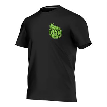 adidas NYC Tennis Tee - Black/Neon Green