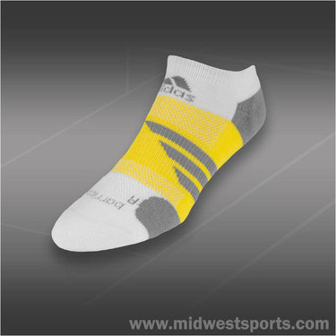 adidas Barricade No Show Tennis Sock White