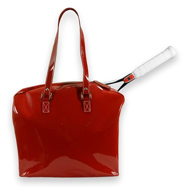 Cortiglia Belvedere Red Leather Tennis Bag