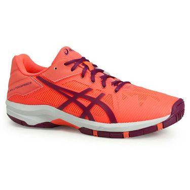 Asics Gel Solution Speed 3 Junior Tennis Shoe - Coral/Plum