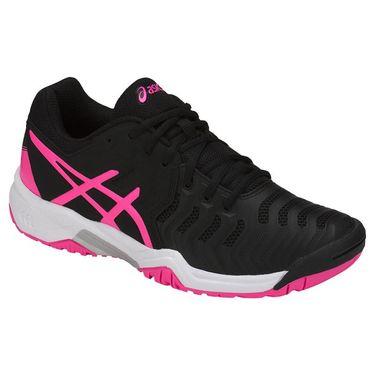 Asics Gel Resolution 7 GS Kids Tennis Shoe - Black/Hot Pink/Silver