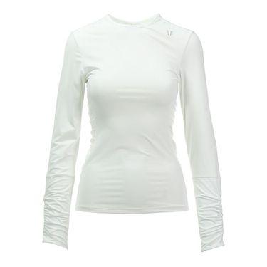 Eleven Geo Swirl Exert Long Sleeve Top - White