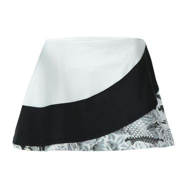 Eleven Casablanca Triple Threat 13 Inch Skirt - White/Black/Print