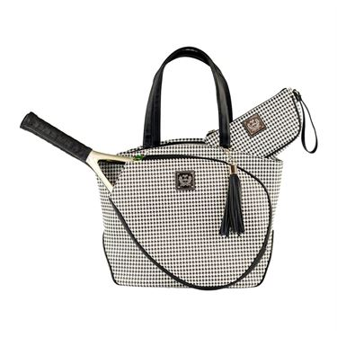 Court Couture Cassanova Houndstooth Tennis Bag - Black/White