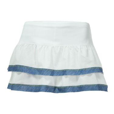 Lucky in Love Denim Days Border Tier Skirt - Chambray