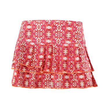 Lucky in Love Summer Lovin Batik Chic Pleated Tier Skirt - Hibiscus
