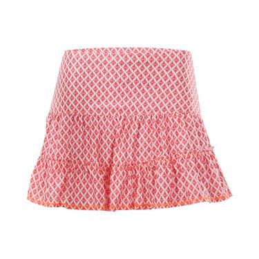 Lucky in Love Summer Lovin Long Ikat Hi Lo Skirt - Hibiscus