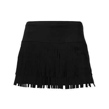 Lucky in Love Core Fringe Skirt - Black
