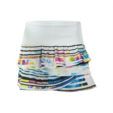 Lucky in Love Long Spin Rouched Scallop Skirt - Multi