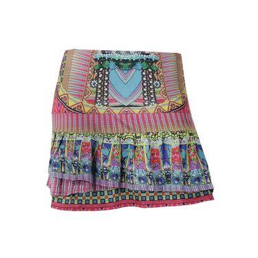 Lucky in Love Long Disco Gypsy Pleat Tier Skirt - Multi