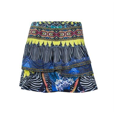 Lucky In Love Long Audacity Ruched Scalloped Skirt - Multi