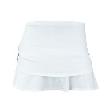 Lucky in Love Vantage Ruched Pleat Tier Skirt - White