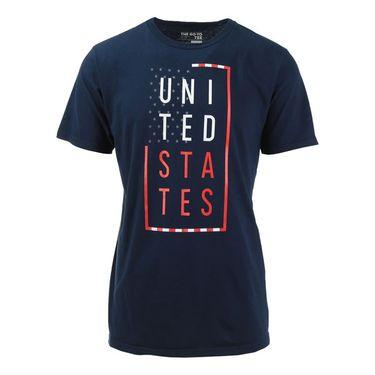 adidas United States Mens Box Tee- Navy