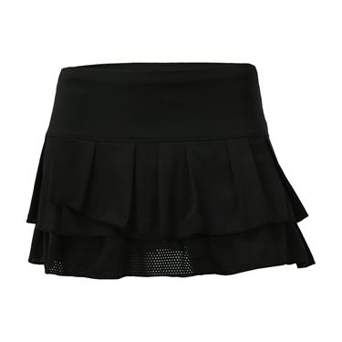 Lucky in Love Core Pleated Tier Skirt - Black