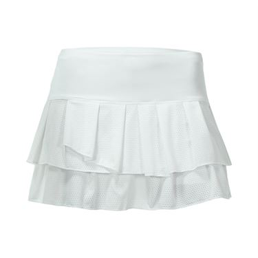 Lucky in Love Core Pleated Tier Skirt - White